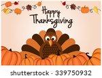 thanksgiving card. vector... | Shutterstock .eps vector #339750932