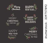 set of christmas postcard... | Shutterstock .eps vector #339757892
