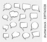 comic book speech bubbles... | Shutterstock .eps vector #339763328