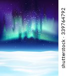 northern lights background... | Shutterstock .eps vector #339764792
