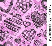 valentine's seamless pattern... | Shutterstock .eps vector #339765542