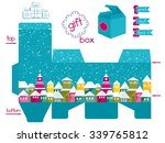 printable gift box with... | Shutterstock .eps vector #339765812
