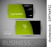 business card template with... | Shutterstock .eps vector #339766922
