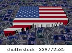 connecticut map flag on dollars ... | Shutterstock . vector #339772535