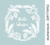 hello winter. print design | Shutterstock .eps vector #339775952
