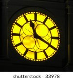 clock on a building in... | Shutterstock . vector #33978