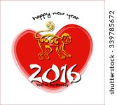 happy new year. year of the... | Shutterstock .eps vector #339785672