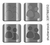 set of user group buttons...   Shutterstock .eps vector #339788552