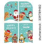 vintage christmas poster design ... | Shutterstock .eps vector #339789482