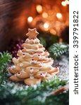 christmas cookie tree | Shutterstock . vector #339791822
