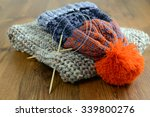Knitting Scarf And Woolly Hat