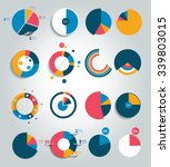 big set of round  circle chart  ... | Shutterstock .eps vector #339803015