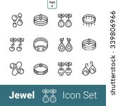 jewel outline thin modern... | Shutterstock .eps vector #339806966