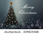 greeting card with a christmas... | Shutterstock . vector #339825488
