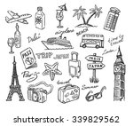 vector hand drawn travel sketch ... | Shutterstock .eps vector #339829562