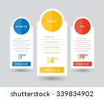 vector pricing table for...   Shutterstock .eps vector #339834902