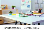 young designer working at his... | Shutterstock . vector #339837812