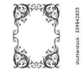 vintage baroque frame scroll... | Shutterstock .eps vector #339842855
