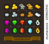 fantasy game icons set  gems...   Shutterstock .eps vector #339842942