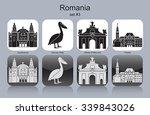 landmarks of romania. set of... | Shutterstock .eps vector #339843026
