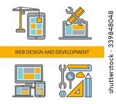 line icons for web design and...