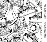 seamless desserts pattern with