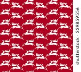 christmas seamless pattern with ... | Shutterstock .eps vector #339859556