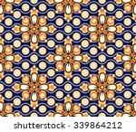 seamless floral beautiful batik ... | Shutterstock .eps vector #339864212