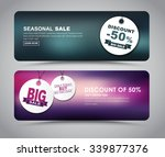banner design for sales and... | Shutterstock .eps vector #339877376