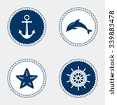 vector of nautical and marine... | Shutterstock .eps vector #339883478