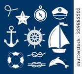 set of marine symbols. vector... | Shutterstock .eps vector #339883502