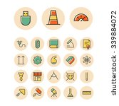 thin line icons for science and ...