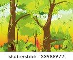 illustration of  a forest | Shutterstock .eps vector #33988972