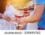 group of happy friends having... | Shutterstock . vector #339890762