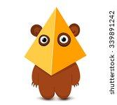 cartoon scary funny monster ... | Shutterstock .eps vector #339891242