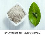 pile of gray cosmetic clay at... | Shutterstock . vector #339895982