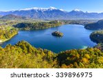 panoramic view of lake bled... | Shutterstock . vector #339896975