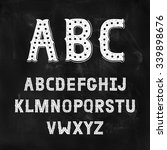 hand drawn alphabet with... | Shutterstock .eps vector #339898676