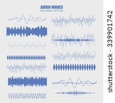 set audio equalizer technology  ... | Shutterstock .eps vector #339901742
