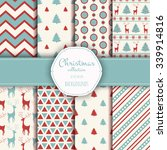 collection of seamless patterns.... | Shutterstock .eps vector #339914816