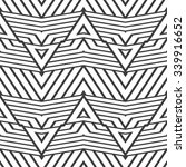black and white geometric... | Shutterstock .eps vector #339916652