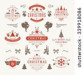 merry christmas and happy new... | Shutterstock .eps vector #339918086