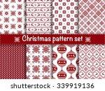 set of seamless christmas... | Shutterstock .eps vector #339919136