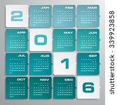 simple design calendar 2016... | Shutterstock .eps vector #339923858
