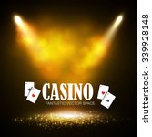 shining casino banner. show ... | Shutterstock .eps vector #339928148