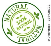 natural badge   stamp. vector... | Shutterstock .eps vector #339928172