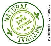 natural badge   stamp. vector... | Shutterstock .eps vector #339928172