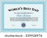 best dad award template. with... | Shutterstock .eps vector #339928976