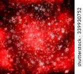 white snowflakes on red... | Shutterstock . vector #339930752