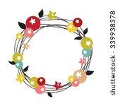 christmas wreath  | Shutterstock .eps vector #339938378
